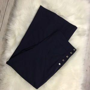 Ralph Lauren side button wool trousers